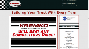 one page responsive web site - Kremko Car Care